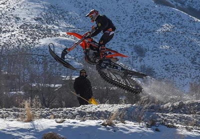 Jimmy Jarrett Wins AMA Snow Bike Race - Round 2, Morgan, UT